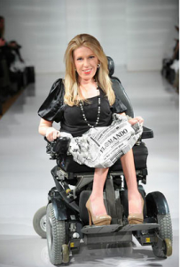 Danielle Sheypuk, Carrie Hammer's first model with disabilities (photo from CarrieHammer.com)