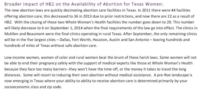Whole Womens Health Abortion CLinic Statement