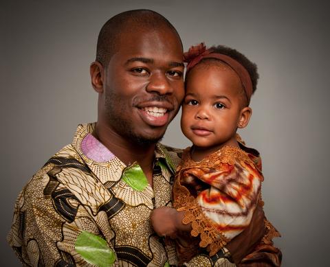 black-father-child