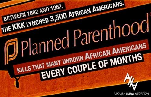 Planned Parenthood Ku Klux Klan KKK death toll