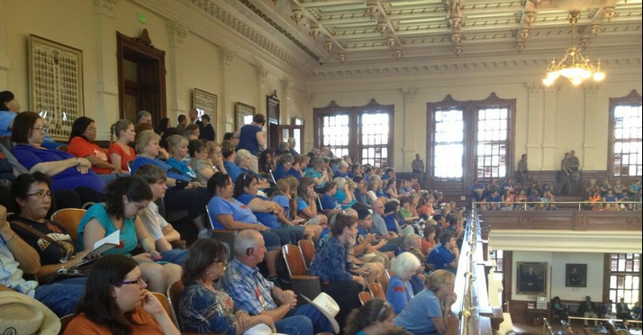The House gallery during the HB2 hearing in Texas. (Photo Credit: Andrew Blair, Pro-Life Politics)
