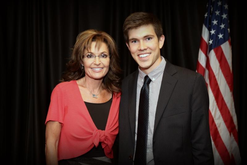 Caleb Parke and Sarah Palin