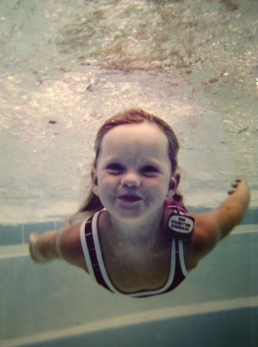 swim, girl, child, smile