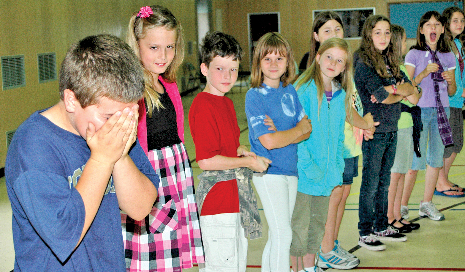kids, class, boy, embarrassed, laugh