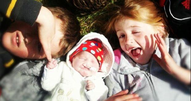 Muireann and two of her siblings