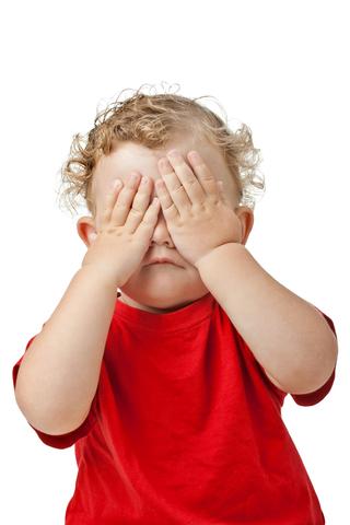 Peek-a-boo! I see goo!