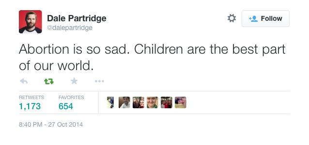 Dale Partridge tweet