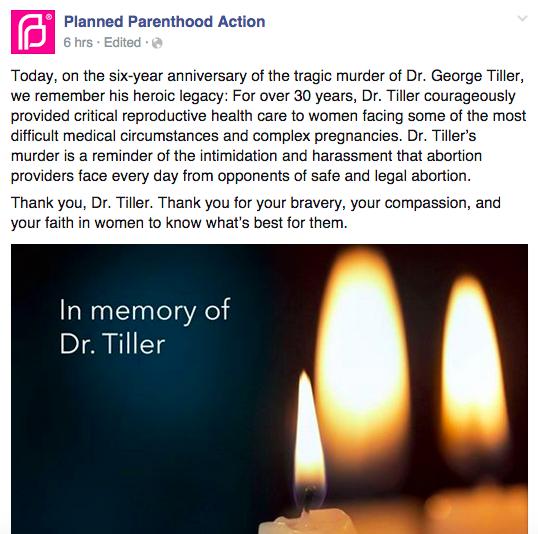 Planned Parenthood, George Tiller