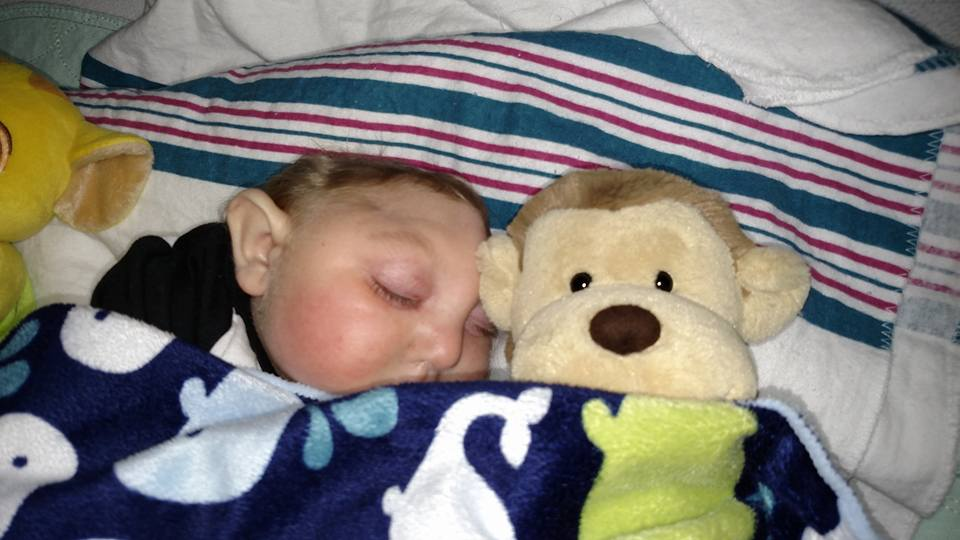 Jaxon and his monkey