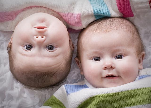 Twins, baby, babies,
