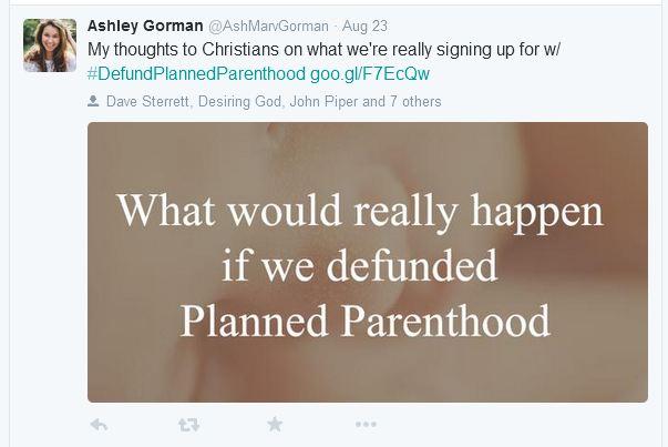 Ashley Gorman Planned Parenthood