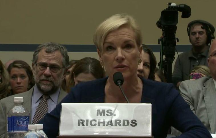 Cecile Richards Planned Parenthood 2015 testifies COngress