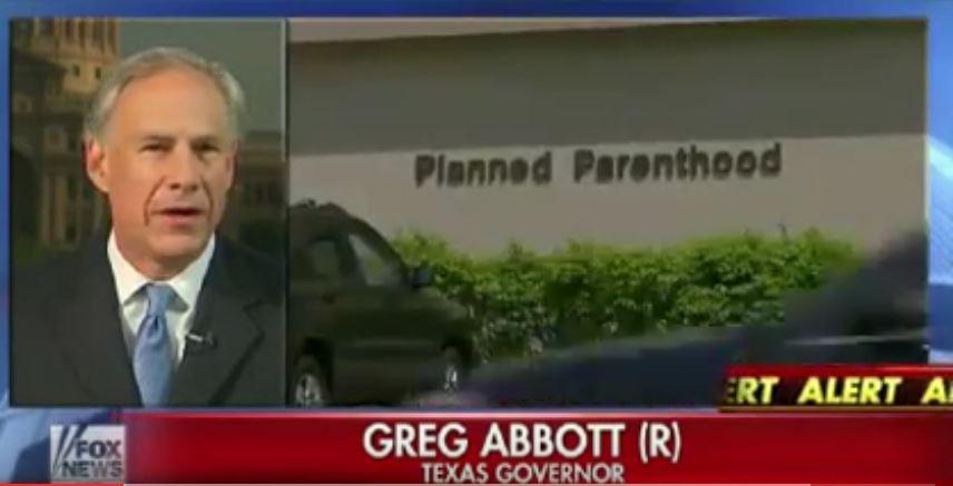 Greg ABbot Medicaid Planned Parenthood