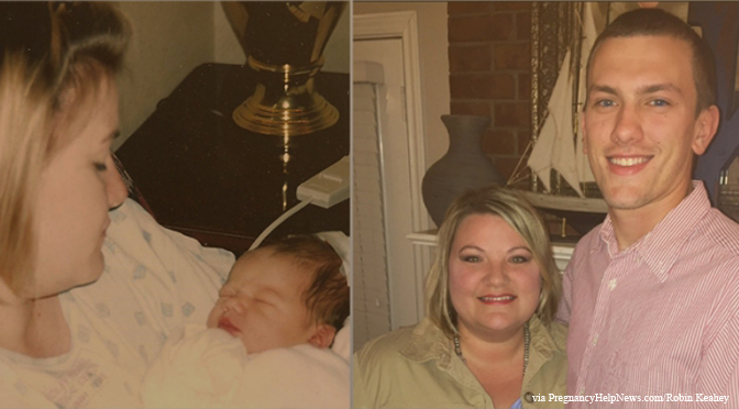 Robin Keahey, son, unplanned pregnancy