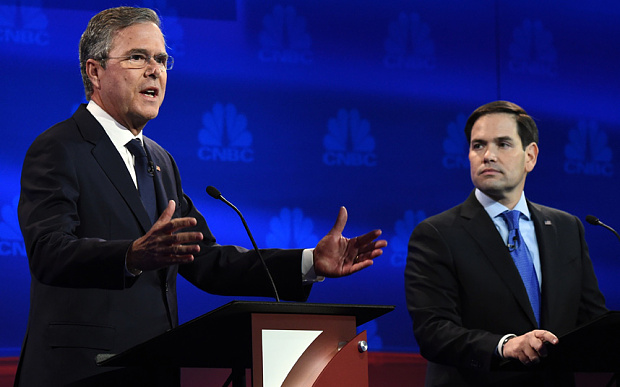 Jeb Bush vs Marco Rubio Republican GOP 2016