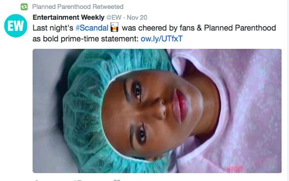 Kerry Washington, Scandal, abortion Planned Parenthood