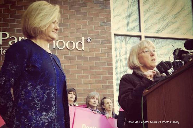 Senator Patty Murray, NARAL, protest, abortion, support