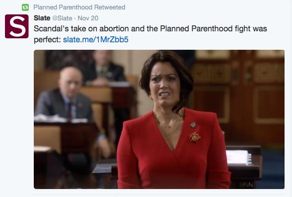 Scandal Mellie Grant Planned Parenthood Slate