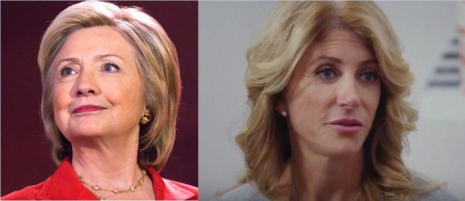 Hillary CLinton and Wendy Davis