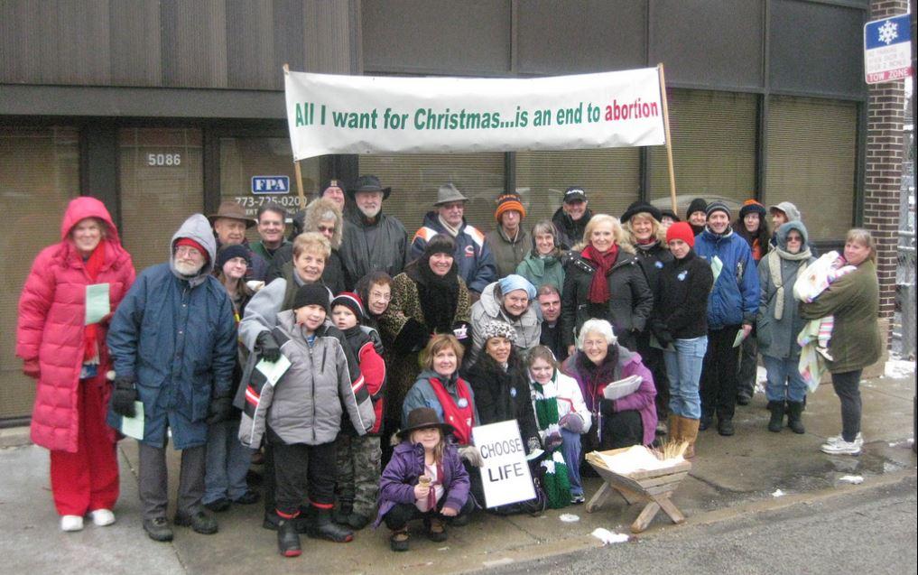 Pro-Life Action League Empty Manger Christmas Caroling Group