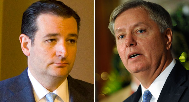 Ted Cruz Lindsey Graham GOP Republican Candidates