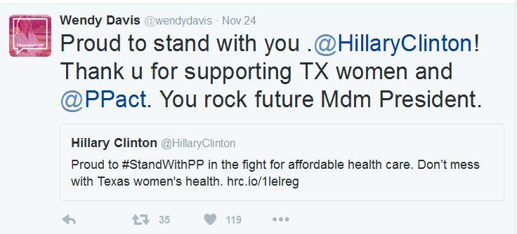 Wensy davis Hillary CLinton Tweet