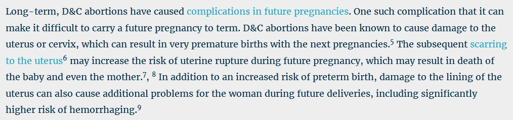Long Term abortion risk