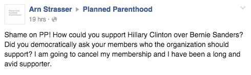 Planned Parenthood, Clinton, cancel membership