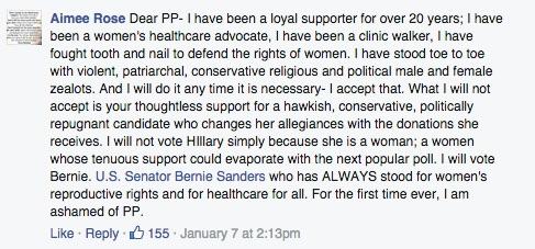 Planned Parenthood, Hillary Clinton, ashamed