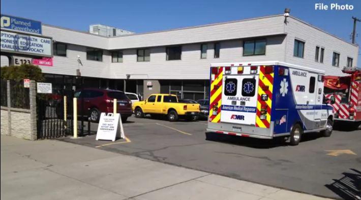 Planned Parenthood Spokane ambulance