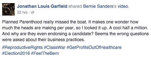 Planned Parenthood, questions, business, Clinton, Sanders