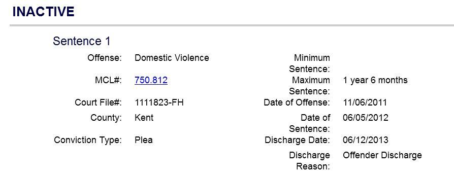 Thomas J Gordon domestic violence charges