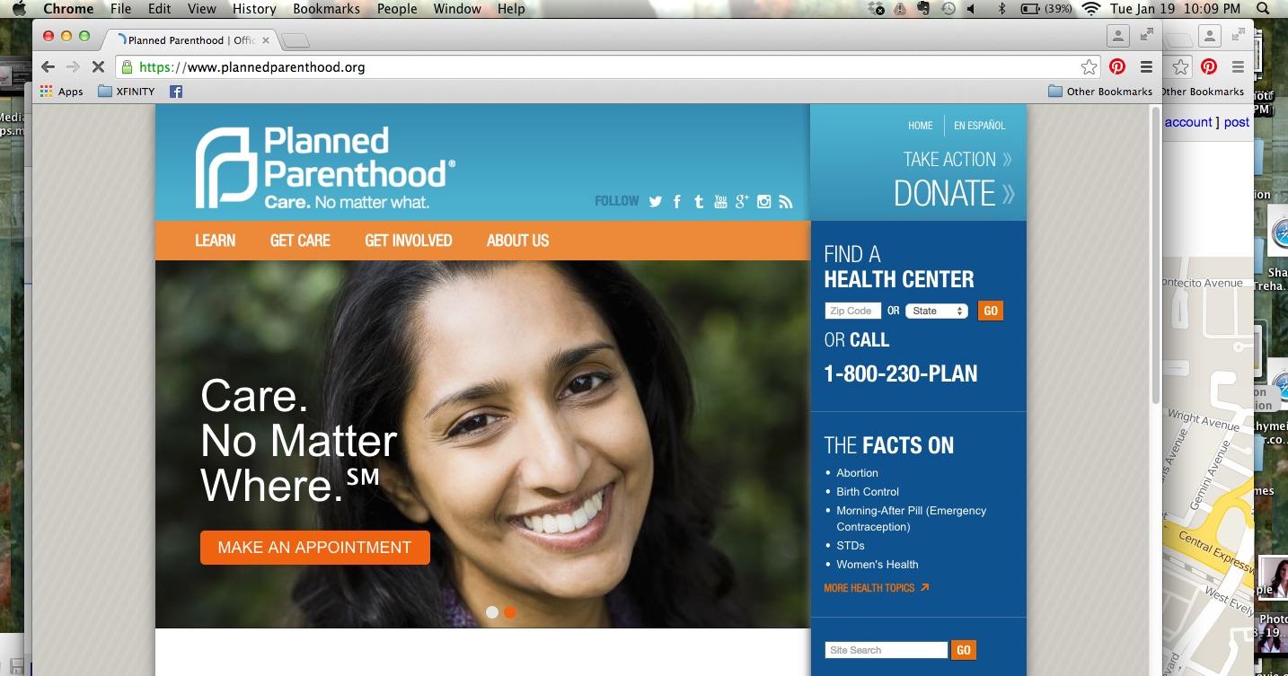 United Wifi, Planned Parenthood, censorship