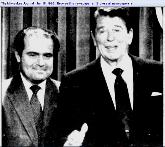 Scalia and Reagan