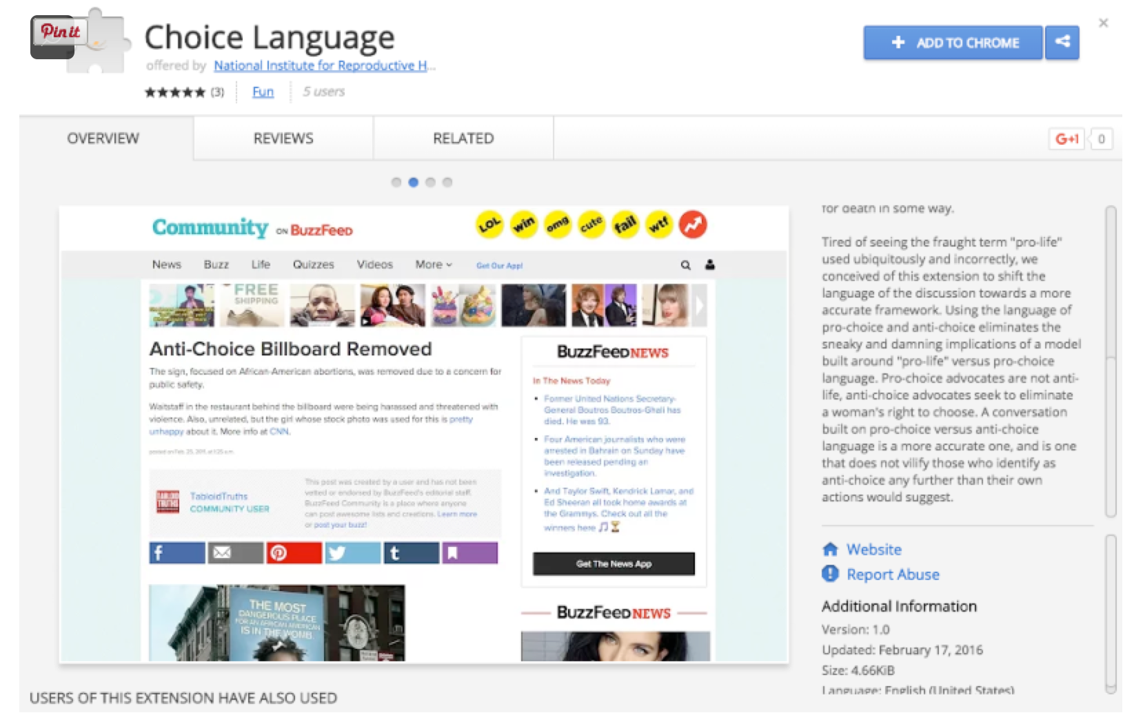 choice language Google Chrome