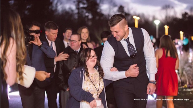 Tim Tebow, pro-life, Night to Shine