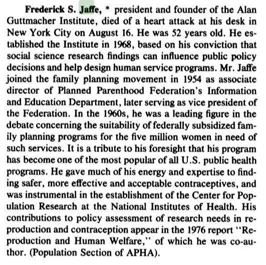 Frederick Jaffe Guttmacher Planned Parenthood