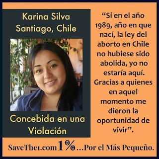 Karina Silva concebida en una violacion