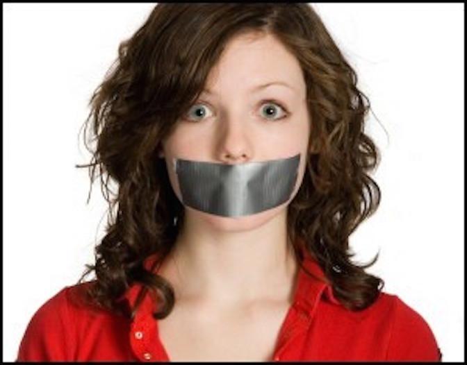 Silent, tape, anti-speech, free speech, planned parenthood, law, court