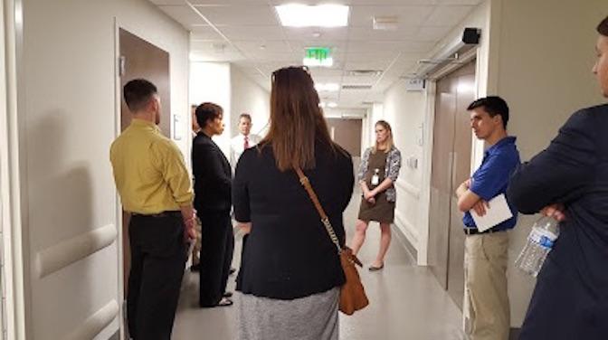 ambulatory surgical center, hallway, stretcher, abortion clinic, facility
