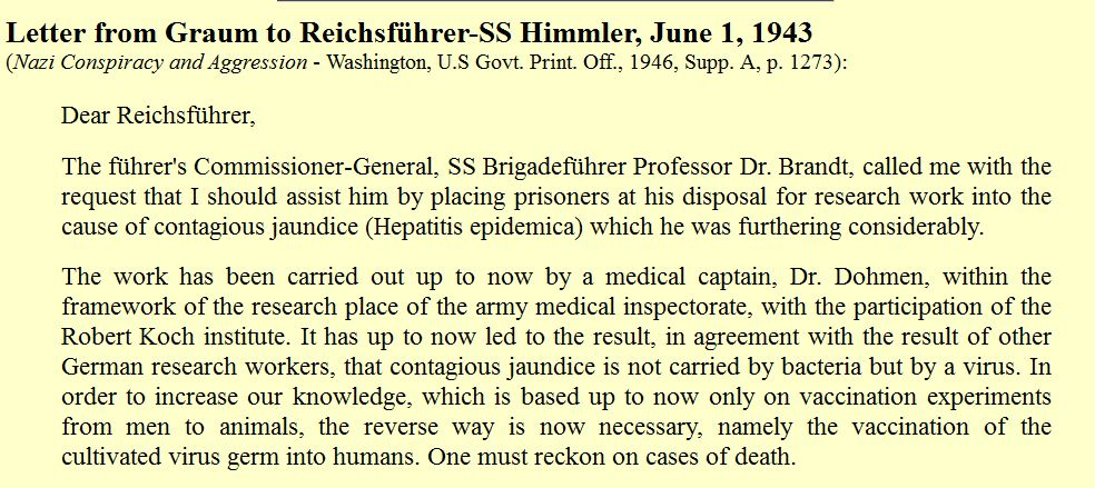 Nazi Letters medical experiments