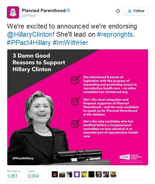 PP ENdorses Hillary