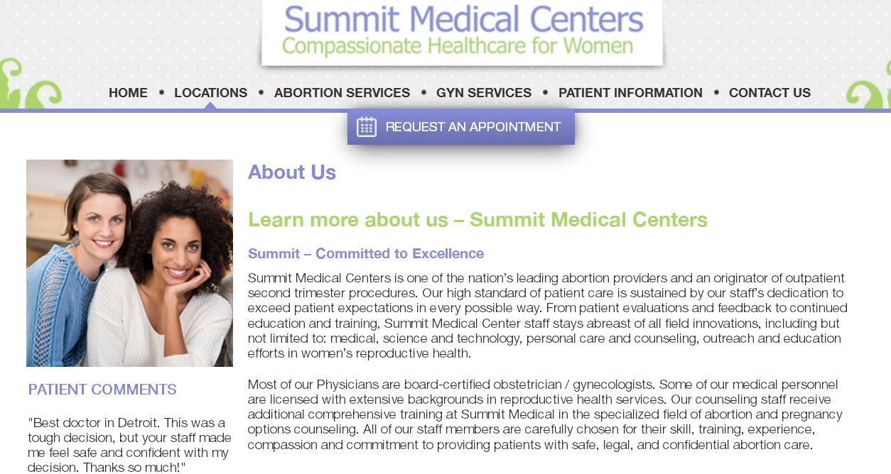 Summit women's center Detroit Abortion