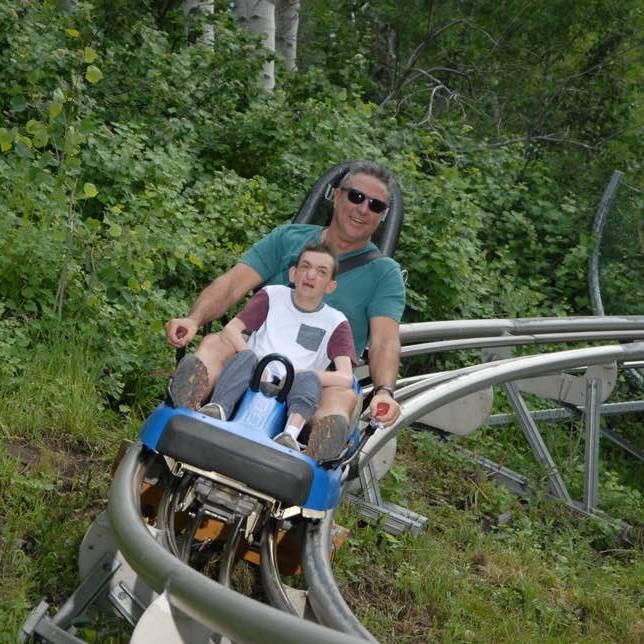 Dallan and Dad coaster