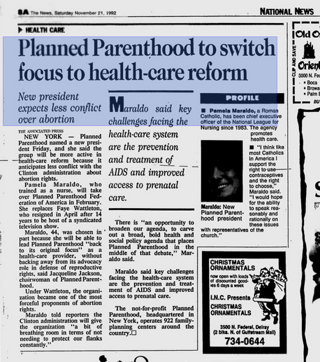 PP to switch focus to Health Care Nov 21 1992