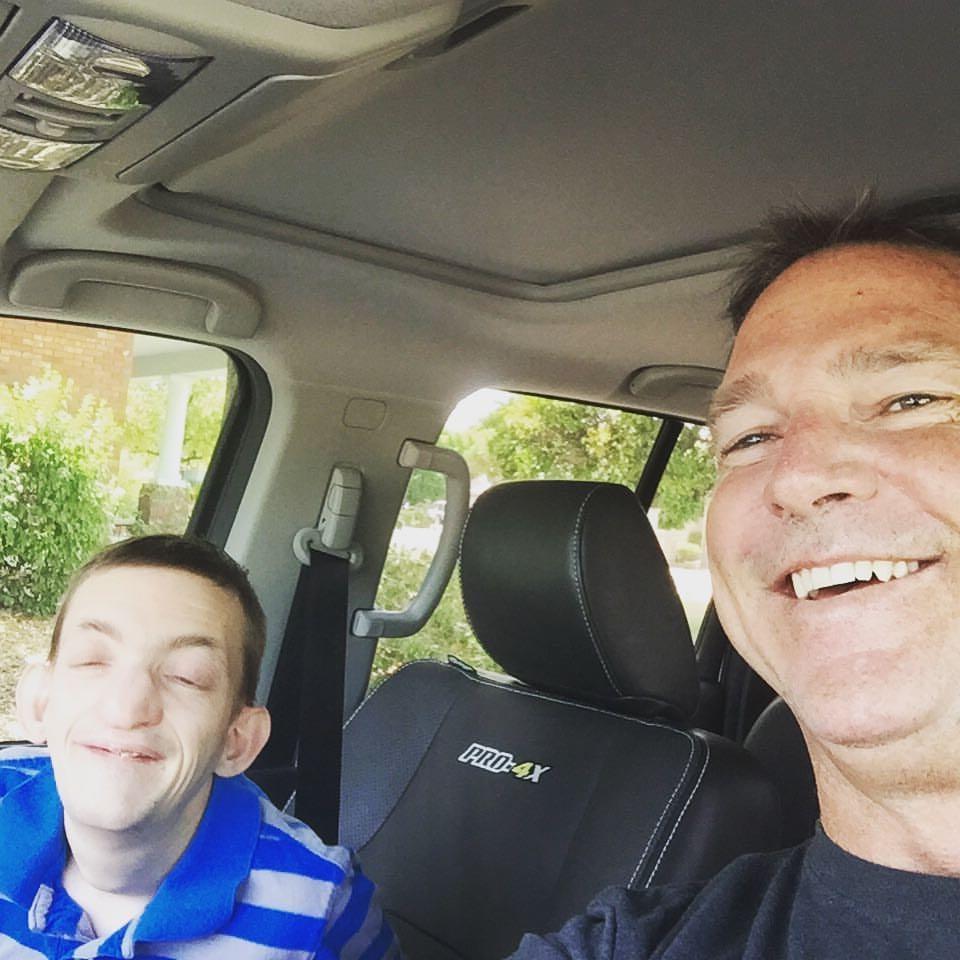 dallan and dad in car