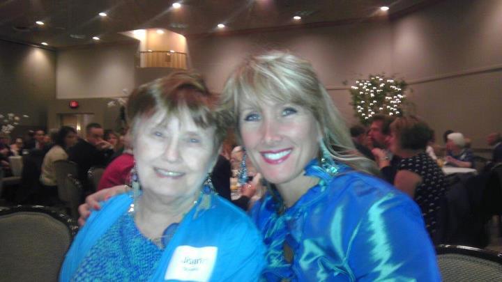 Rebecca Kiessling with Birthmom at Pregnancy Center Banquet 2012