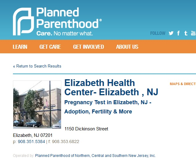 Elizabeth NJ PP PURGED Prenatal