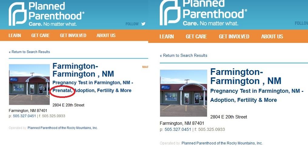 Farmington NM PP Prenatal and Purged