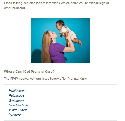 PPHP Prenatal Planned Parenthood 6 locations